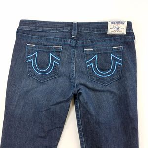 True Religion Stretch Capri Cropped Denim Jeans